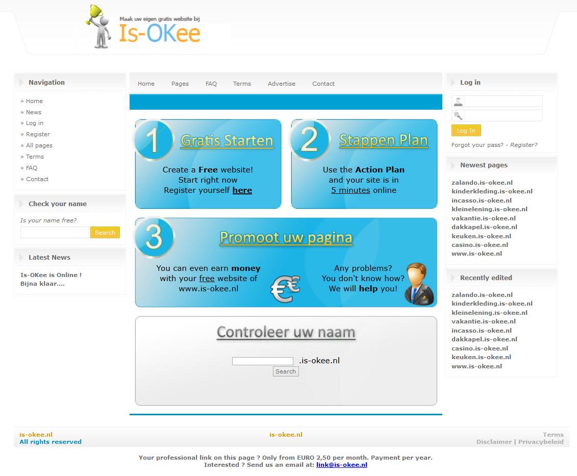 is-okee.nl gratis site maken